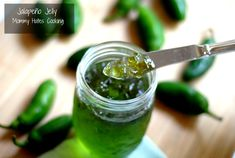 I was introduced to something new this week, Jalapeno Jelly! I know many people love this and have heard of it; however, my husband and I had never tried it. My mom's friend sent over Jalapeno Jelly Recipes, Pepper Jelly Recipes, Homemade Jelly, Homemade Butter, Green Pepper Jelly, Relish Sauce, Canning Peppers, Jam And Jelly, Stuffed Hot Peppers