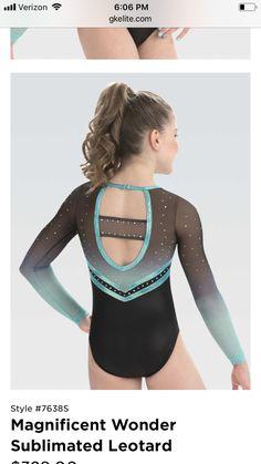 Gymnastics Clothes, Gymnastics Wear, Girls Sports Clothes, Gymnastics Stuff, Elite Gymnastics, Dance Outfits, Sport Outfits, Gymnastics Competition Leotards, Long Sleeve Leotard