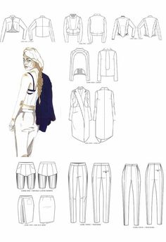 Fashion Portfolio - tailored fashion collection development - fashion design drawings; illustration; fashion sketchbook // Youlia Nagaytseva