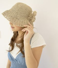 crocheted hat . Follow - pinterest.com/ImStyle and LIVE with Style -  SheWithStyle .COM