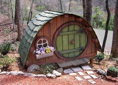 A cute little fairy house would look good in my garden!