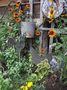 Summer flower garden with prims
