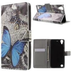 Housse HTC Desire 530 - Papillon Bleu