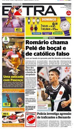 26-04-2013 - Capas do Jornal Extra - Primeira página do Jornal Extra do Rio - Extra Online