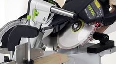 When looking for a good miter saw, you can never go wrong with the Festool Kapex KS 120 sliding compound miter saw. This saw provides with an accurate way of cutting lumber effortlessly. Sliding Compound Miter Saw, Compound Mitre Saw, Festool Kapex Ks 120, Tool Shop, Power Tools, Dust Collection, Electrical Tools