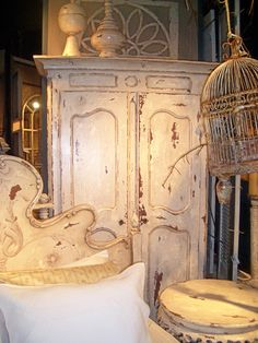 french armoire -the more distressed, the more i LOVE