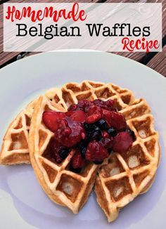 My family loves waffles for breakfast, or even sometimes for dinner! This homemade belgian waffle recipe is our absolute favorite- and I am sure that you'll love it too! #BelgianWaffles #Breakfast #FamilyBreakfast #MomOf6 via @sharonmomof6