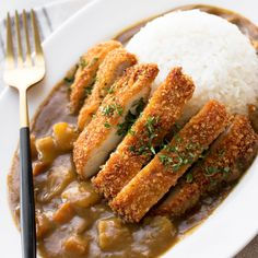 Curry Fried Chicken, Chicken Katsu Curry Recipes, Diced Chicken, Crispy Chicken, Chicken Recipes, Beef Chops, Japanese Curry, Japanese Chicken, Cooking White Rice