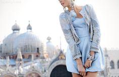 Blue fashion blue dress jewelry girlie fashion photography
