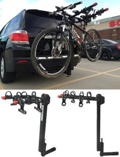 A necessity when it comes to car accessories for bike lovers! The Yakima doubledown carries up to 4 bikes and features a mast that tilts forward for access to rear cargo, and arms that fold down for storage!  A great idea for families that love biking