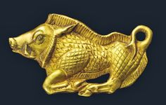 Scythian gold boar bracteate