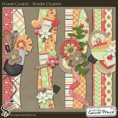 Home Cookin' - Border Clusters :: Mixed Element Packs :: Embellishments :: SCRAPBOOK-BYTES