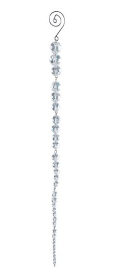 Dr. Zhivago Crystal and Clear Icicle Ornament (Set of 12)