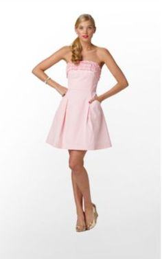 Pink Ruffled Ferra Dress by #Lilly Pulitzer