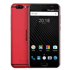 "Ulefone T1 5.5"" FHD Smartphone 4G Android 7.0 Dual SIM Unlocked Mobile Helio P25 Octa Core 2.6GHz CPU 6GB RAM +64GB ROM, 16MP + 5MP Dual Rear Camera, 0.1S Fingerprint - Global Version"
