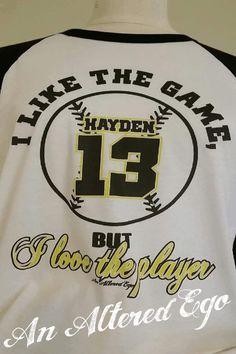 I Love the Player Baseball Custom RAGLAN