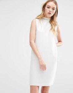Pin for Later: 40 weiße Sommerkleider unter 100 €  NATIVE YOUTH hochgeschlossenes Kleid aus Rippstrick (57 €)