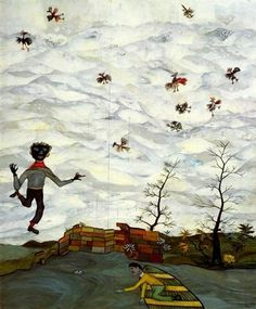 Landscape with Birds - Lucian Freud
