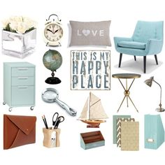 Home Office Ideas by acornishgirl, via Polyvore
