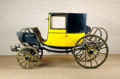 The Marquess of Granville's London post-chaise in BLIND FORTUNE looked like this one. Old Wagons, Baby Buggy, Marquess, Regency Era, Historical Images, Horse Drawn, Mellow Yellow, Antiques, Saddles