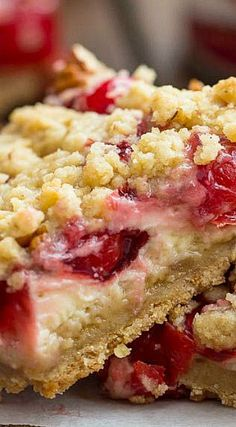 Cherry Pie Sour Cream Pie Bars