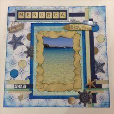 Menorca holiday album front page #scrapbooking #craft
