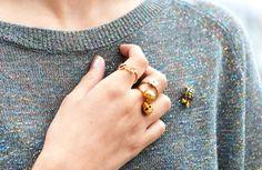 rings + brooch
