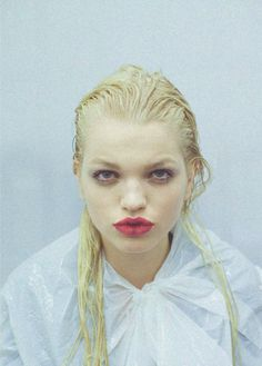 Daphne Groeneveld backstage at Prada F/W 2013
