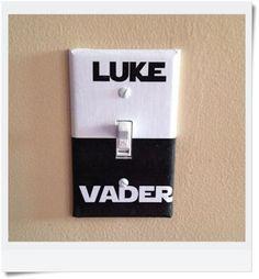 Star Wars Luke Vader Dark Side Light Switch Covers Wallplates Switchplates Home Decor Outlet Geeks, Deco Cinema, Star Wars Zimmer, Star Wars Bathroom, Deco Gamer, Star Wars Light, Star Wars Luke, Geek Out, Geek Decor