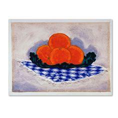 Oscar Bluemner 'Oranges' Canvas Art