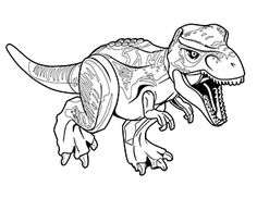 jurassic world echo coloring pages | T Rex Coloring Page Jurassic World | Kids Colouring Pages ...