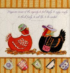 Chickens And Roosters, Pet Chickens, Country Chicken, Decoupage Printables, Chicken Art, Country Paintings, Bird Art, Farm Animals, Folk