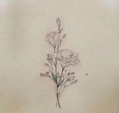I think i want this style of tattoo but with daisies and sweet peas