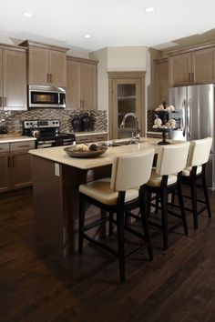54 Exceptional Kitchen Designs  Hand Scraped Hardwood Island Glamorous Kitchen Design Sheffield Decorating Inspiration