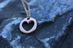 Halskette rosegold Herz von Le petit bouton auf DaWanda.com
