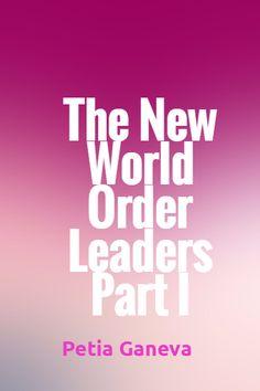 New World Order, Creative Words, Creativity, Calm