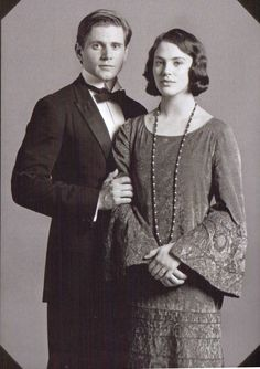 "Jessica Brown Findlay and Allen Leech in a promo pic for ""Downton Abbey"""