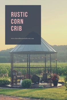 Corn crib, Farm landscaping, Small garden design, Outdoor inspirations, Outdoor landscaping, Backyard landscaping - Even though this sounds like an odd birthday present for your son, my motherinlaw di - #Corncrib Backyard Garden Design, Small Garden Design, Backyard Gazebo, Farm Landscaping, Fireplace Garden, Small Outdoor Spaces, House Yard, Swimming Pools Backyard, Farm Yard