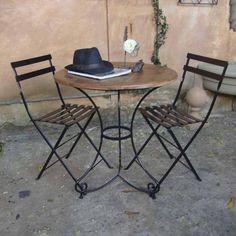 Cadeira de Ferro Dobrável Bistrô Preta :: Loja Dom Mascate