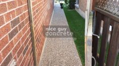 Exposed Aggregate, A Good Man, Concrete, Sidewalk, Guy, Nice, Pavement, Curb Appeal