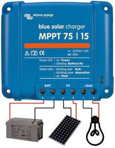Ce régulateur solaire bluesolar mppt 10A permet un gain de charge de 35% comparé à un régulateur classique pwm. Marque Victron energy. Version disponible en 75/10.