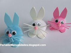 easter bunny craft homemade toilet roll stamp pinterest bunny