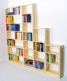 Super customizable shelving units, you can change depth, height, width, and number of shelves per unit.