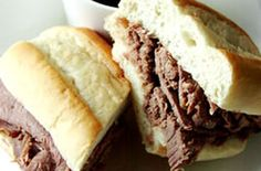 Crock Pot French Dip Subs: 4lbs roast, 1- 10oz can beef broth, 1 can condensed french onion soup