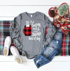 Womens Christmas shirt christmas shirt Christmas Christmas shirts Womens shirt Christmas movies shirt Holiday Holidays Gift for her - Christmas T Shirt - Ideas of Christmas T Shirt - Womens Christmas shirt christmas shirt Christmas Christmas Trendy Outfits, Fall Outfits, Cute Outfits, Rock Outfits, Trendy Clothing, Party Outfits, Christmas Shirts, Christmas Sweaters, Womens Christmas