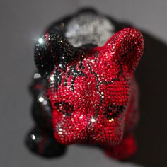 French Bruno by J. French Bulldog, Swarovski, Butterfly, Bling, Glamour, Sculpture, Crystals, Luxury, Roses Garden