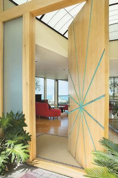 large-wooden-door-design-of-modern-entry It Is Not Just a Front Door, It Is a Gate Unique Front Doors, Contemporary Front Doors, Modern Entry, Modern Front Door, House Front Door, Main Entrance Door Design, Front Door Design, Entrance Doors, Office Entrance