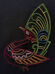 Hand Embroidery Videos, Hand Embroidery Tutorial, Hand Embroidery Stitches, Machine Embroidery, Kasuti Embroidery, Crewel Embroidery, Embroidery Patterns, Handmade Embroidery Designs, Peacock Embroidery Designs