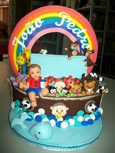 Arca de Noé em Biscuit #arcadenoe #topoinfantil #topper #biscuit #coisasdelaurinha