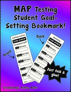 "Students need a MAP TEST motivational push? Try these student goal-setting bookmarks! Great for that ""student data keeping"" we are suppos. 4th Grade Classroom, 3rd Grade Math, Third Grade, Classroom Map, Student Goals, Student Data, Student Motivation, Classroom Organization, Classroom Management"